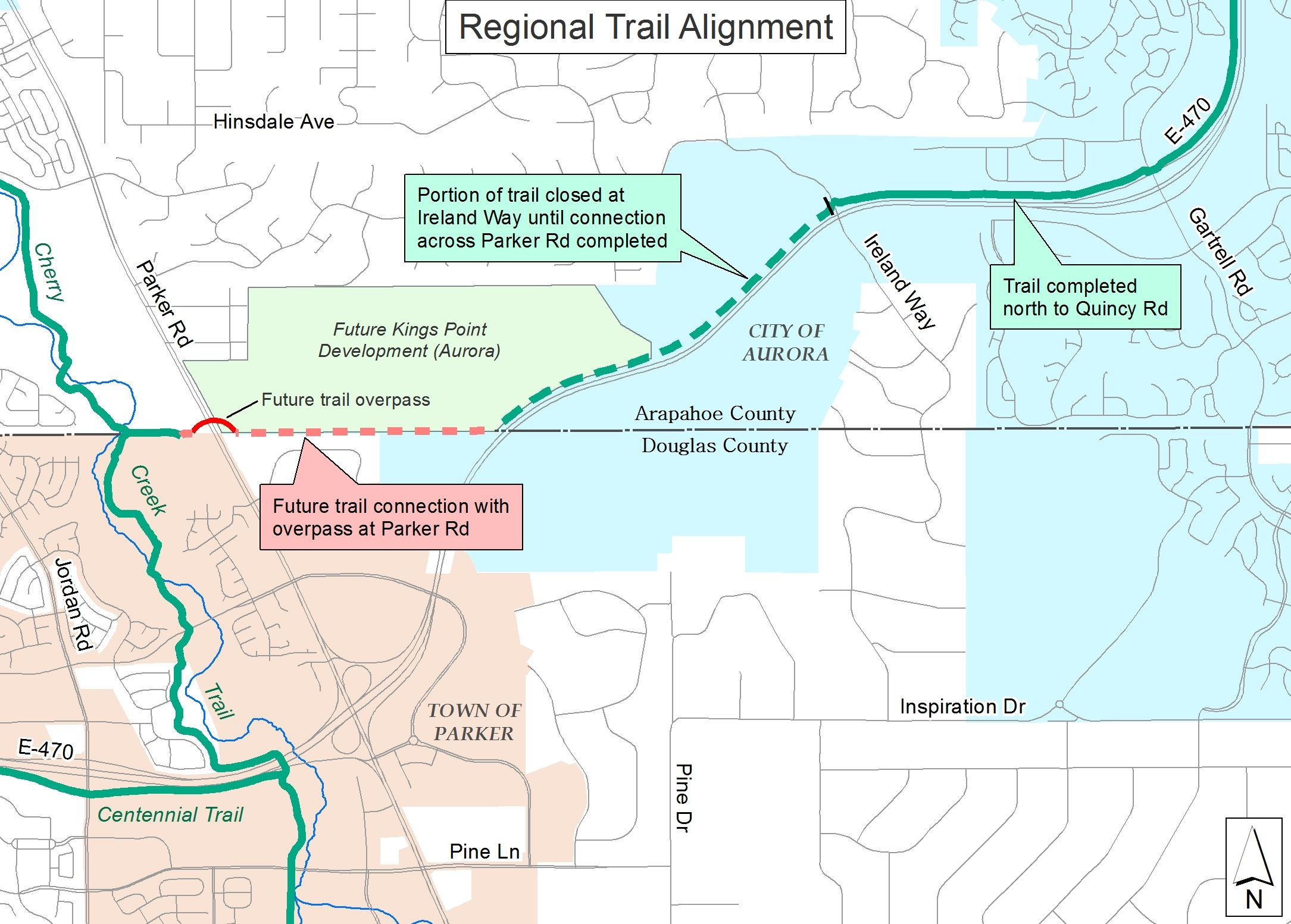 Trail Closure at Ireland Way
